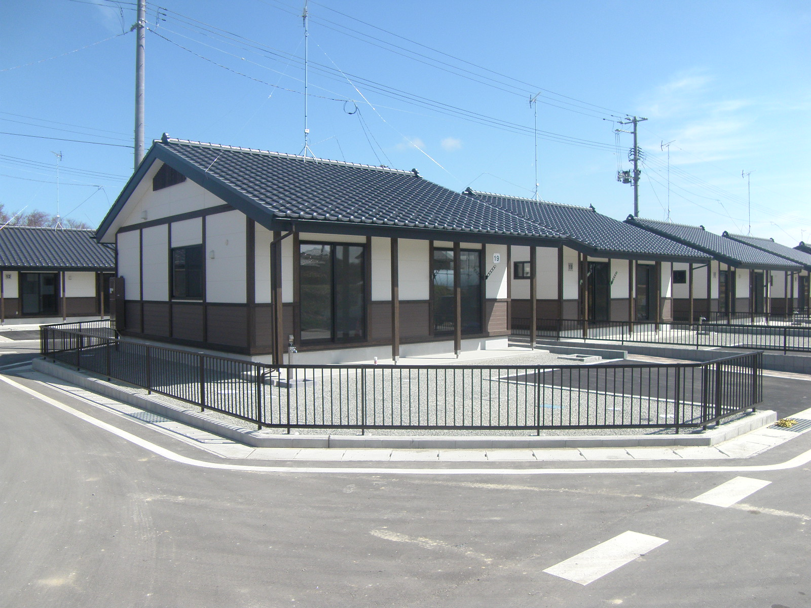 相馬市鷲山地区災害公営住宅(戸建住宅)建設外構工事