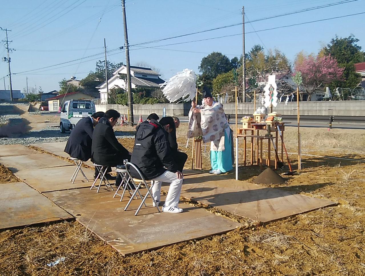 刈敷田郵便局新築工事 地鎮祭を行いました